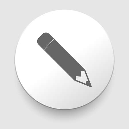 Pencil icon, flat design on white background  illustration Vector