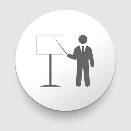 Vector training icon on white background  EPS10 illustration Vector