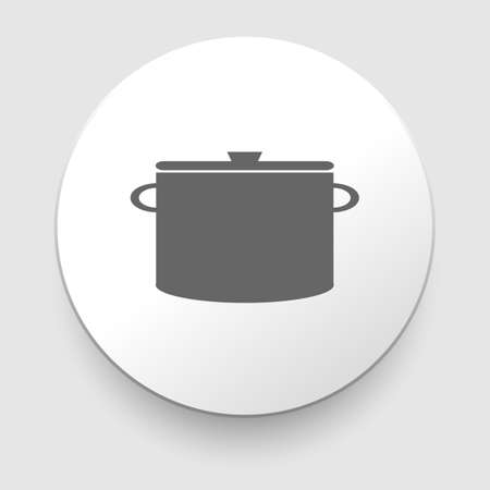 Cooking pan symbol  Sign or icon  Vector illustration  Vector