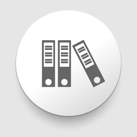 three grey folders on white background  EPS10 Vector