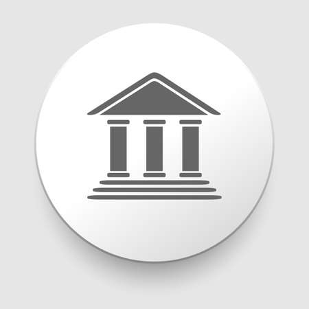 Bank building Icon on white background  EPS10 illustration Vector