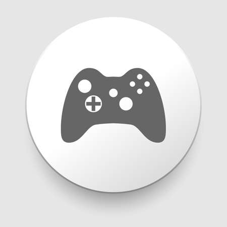 illustration of game controls, Video games Silhouettes, vector illustration Vector