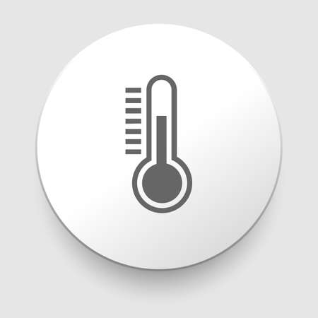 celsius: Thermometer icon on white illustration Illustration