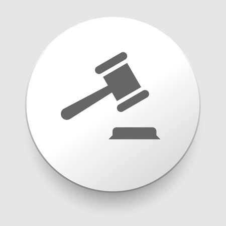 court judge: judge or auction hammer icon.  Illustration