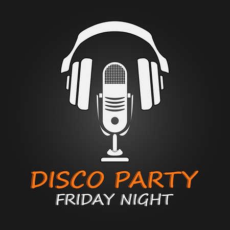 Disco party poster.  Vector