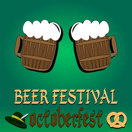 hogshead: Best traditional fresh cold Beer. Beer Restaurant menu. Vector