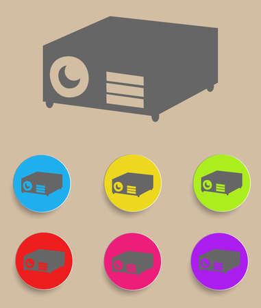 Data projector. Vector illustration Иллюстрация