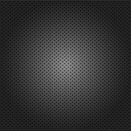 mechanical radiator: carbon corduroy grid black background. vector illustration Illustration