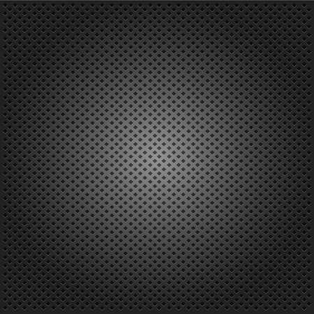 corduroy: griglia di velluto carbonio sfondo nero. illustrazione vettoriale Vettoriali