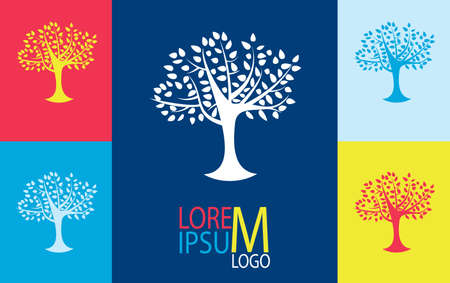 growing business: Tree logo template. Growing business concept. Vector