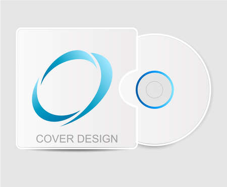 Cover Design With Logo. Blank White Compact Disk With Cover Mock ...