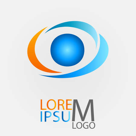 Circle logo for your company. Vector illustration. EPS10