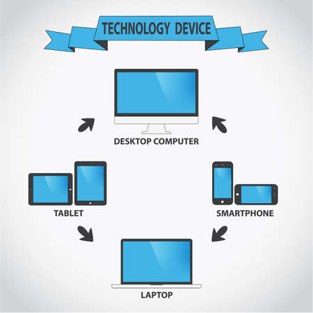 Unrelated to the cloud modern electronic device - PC, tablet, laptop, smartphone.
