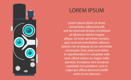 subject matter: Old movie camera with lens. Vector illustration EPS10.