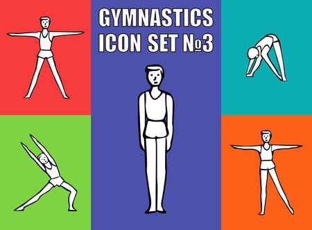 boy gymnast: Boy gymnast athlete performs a variety of exercises.