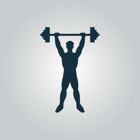 Strong man icon illustration of fitness Vector