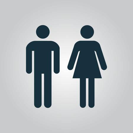 simbolo de la mujer: iconos hombre y mujer