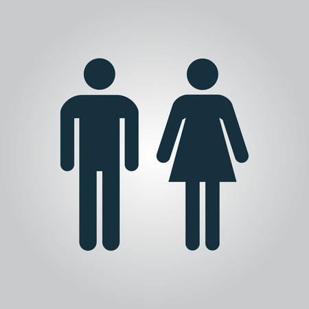 restroom sign: man and woman icons