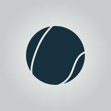 tennis serve: Flat web icon, sign or button isolated on grey background. Illustration