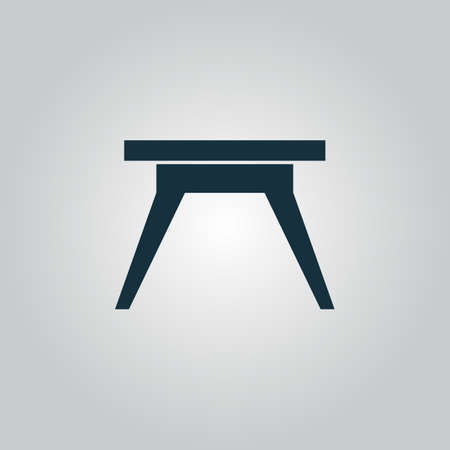 soiree: Flat web icon, sign or button isolated on grey background. Illustration