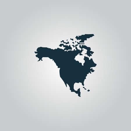 bandera panama: Am�rica del Norte Mapa. Icono de la web plana, firmar o bot�n aislado sobre fondo gris. Colecci�n tendencia concepto de estilo de dise�o moderno ilustraci�n vectorial s�mbolo