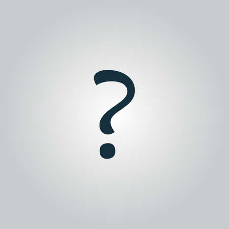 incognito: Question mark sign icon, vector illustration. Flat design style Illustration