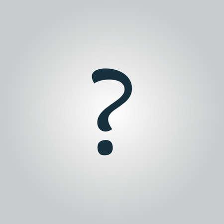 Vraagteken teken pictogram, vector illustratie. Platte design stijl Stock Illustratie