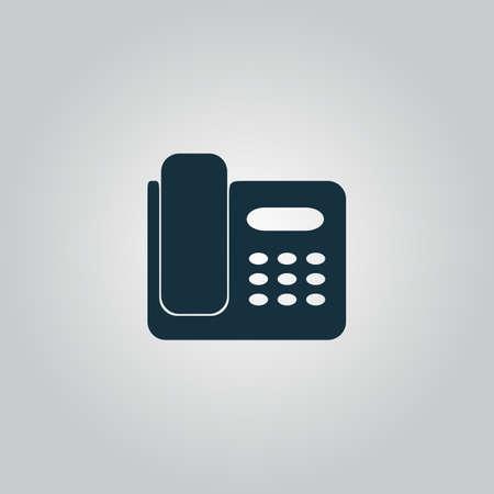 faxger�t: Vector Faxger�t. Wohnung-Ikone, Zeichen oder Taste auf grauem Hintergrund isoliert. Sammlung Moderne Konzept Design-Stil Vektor-Illustration Symbol Illustration