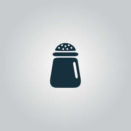 pepper grinder: Salt or pepper - Vector icon isolated. Flat web icon, sign or button isolated on grey background. Collection modern trend concept design style vector illustration symbol