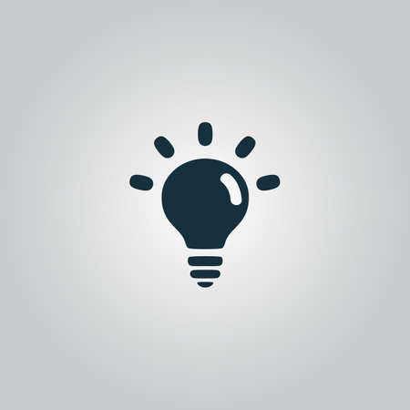 fluorescent lights: BULB. Flat web icon, sign or button isolated on grey background. Collection modern trend concept design style vector illustration symbol
