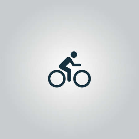 cycling road. Flat web icon or sign isolated on grey background. Collection modern trend concept design style vector illustration symbol Vettoriali