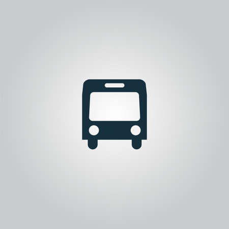 Simple Bus. Flat web icon or sign isolated on grey background. Collection modern trend concept design style vector illustration symbol Vector