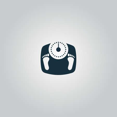 Scala bagno con le impronte. web icona piatto o segno isolato su ...