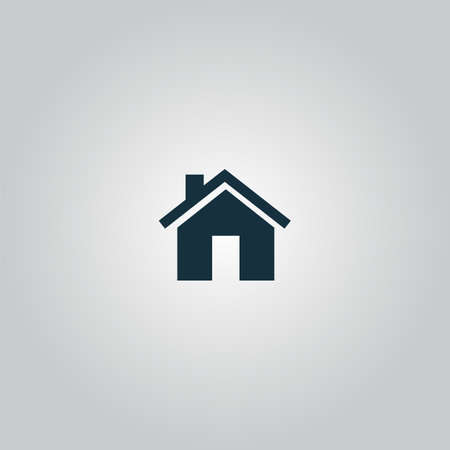 Small house. Flat web icon or sign isolated on grey background. Collection modern trend concept design style vector illustration symbol