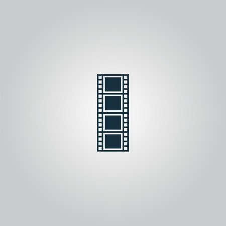 cinematografico: pel�cula cinematogr�fica. Web icono plano o signo aislado sobre fondo gris. Colecci�n tendencia concepto de estilo moderno dise�o ilustraci�n vectorial s�mbolo