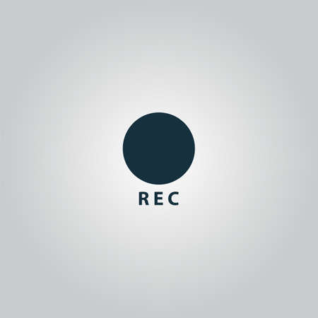 rec: Rec. Web icona piatto o segno isolato su sfondo grigio. Collezione moderno concetto di tendenza di stile di design simbolo illustrazione vettoriale