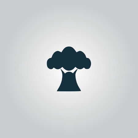 baobab tree: Baobab tree. Flat web icon or sign isolated on grey background. Collection modern trend concept design style vector illustration symbol