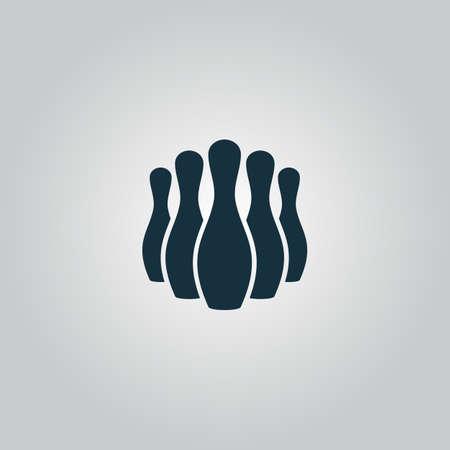 quilles: Skittles. Flat ic�ne web ou un signe isol� sur fond gris. Collection style moderne de concept design tendance symbole vecteur illustration