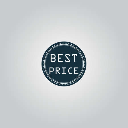 price uncertainty: Best Price Badge Label or Sticker. Flat web icon or sign isolated on grey background. Collection modern trend concept design style vector illustration symbol