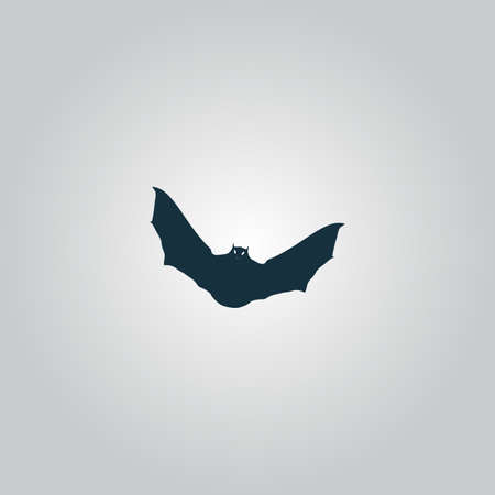 superstition: Bat. Flat web icon or sign isolated on grey background. Collection modern trend concept design style vector illustration symbol Illustration