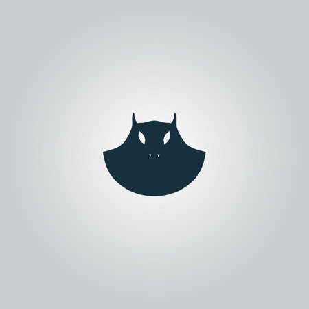 Executioner evil face mask. Flat web icon or sign isolated on grey background. Collection modern trend concept design style vector illustration symbol