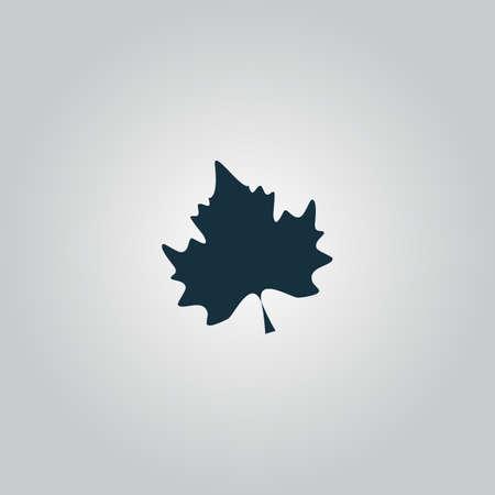 Ahornblatt. Flach Web-Symbol oder Zeichen auf grauem Hintergrund isoliert. Sammlung Moderne Konzept Design-Stil Vektor-Illustration Symbol Standard-Bild - 40769120