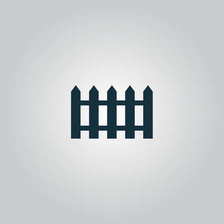 fence: Fence icon. Flat web icon or sign isolated on grey background. Collection modern trend concept design style vector illustration symbol