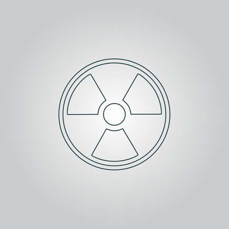 caesium: Radiation Flat web icon, sign or button isolated on grey background. Collection modern trend concept design style vector illustration symbol