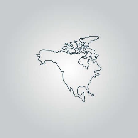 bandera de panama: Am�rica del Norte Mapa. Icono de la web plana, firmar o bot�n aislado sobre fondo gris. Colecci�n tendencia concepto de estilo de dise�o moderno ilustraci�n vectorial s�mbolo