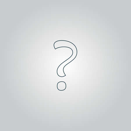 anonym: Question mark sign icon, vector illustration. Flat design style Illustration