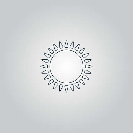 rooster at dawn: sole. Icona web piatto, segno o pulsante isolato su sfondo grigio. Collezione moderno concetto di tendenza di stile di design simbolo illustrazione vettoriale