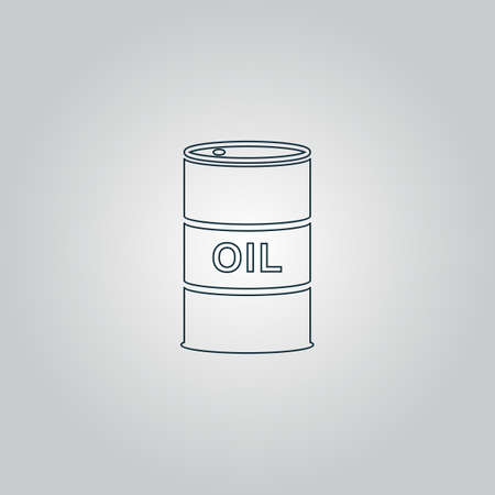 barel: Barrels of oil. Flat web icon, sign or button isolated on grey background. Collection modern trend concept design style vector illustration symbol Illustration