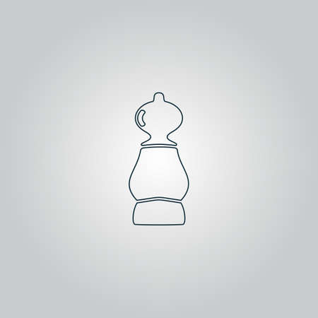 cross match: Chess pawn. Flat web icon, sign or button isolated on grey background. Collection modern trend concept design style vector illustration symbol Illustration