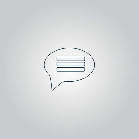 instant messaging: Chat. Flat web icon, sign or button isolated on grey background. Collection modern trend concept design style vector illustration symbol Illustration